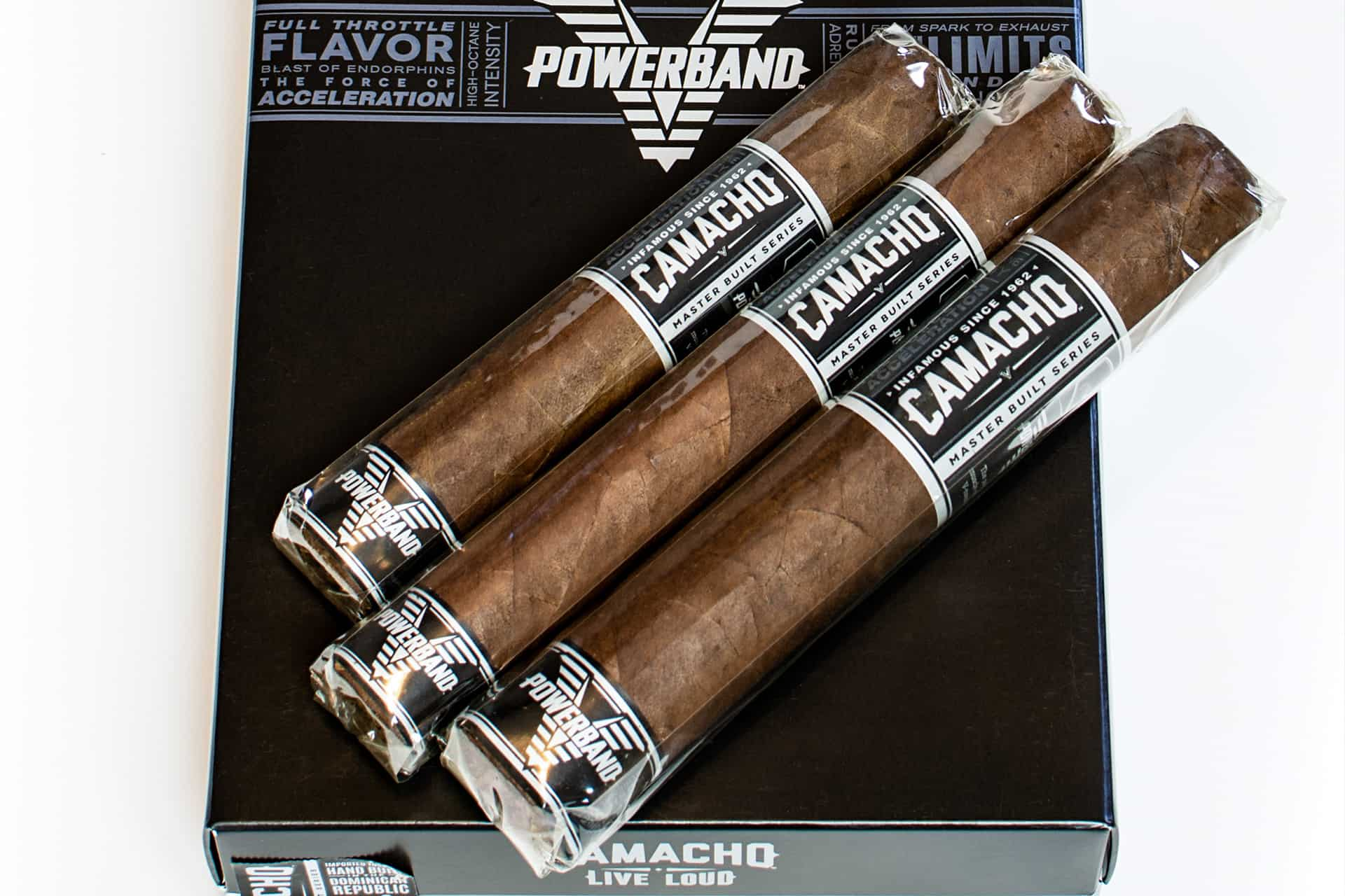 Camacho Powerband – 3 Cigar Sampler – Master Built Series